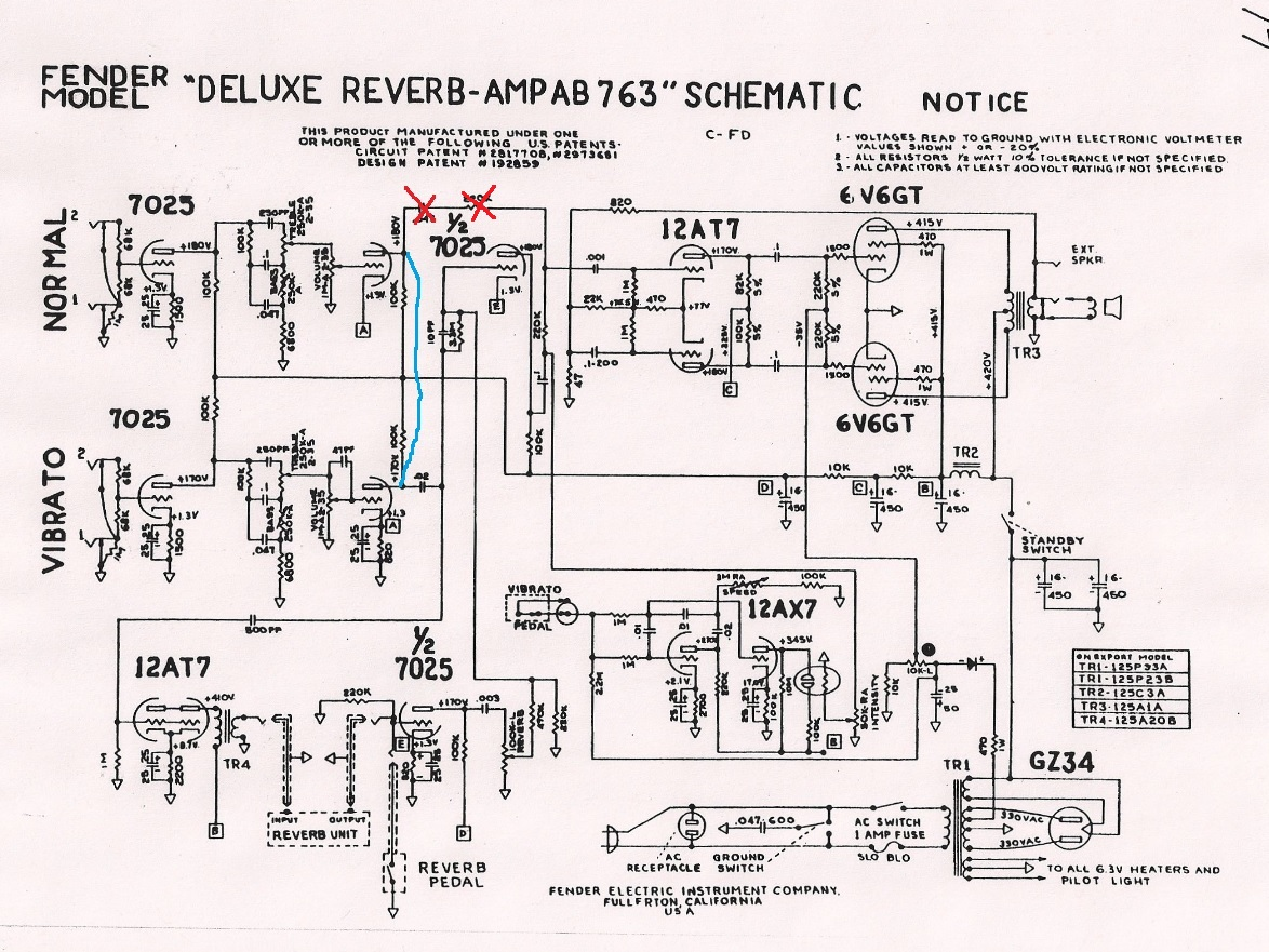 [SODI_2457]   Fender 64 Custom Deluxe Reverb Handwired - Schematic | Page 4 | The Gear  Page | Deluxe Reverb Wiring Diagram |  | The Gear Page